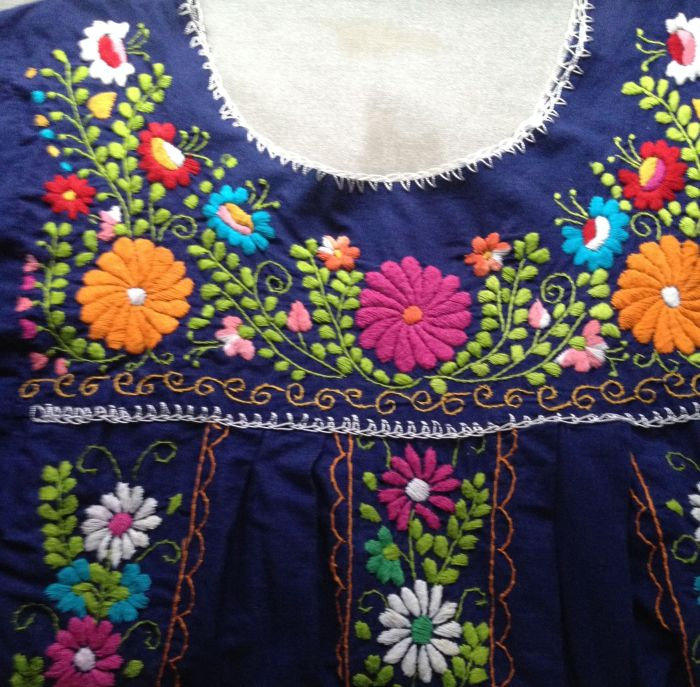 Blue floral dress Mexico