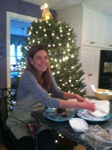 Ellen baking at Diana's