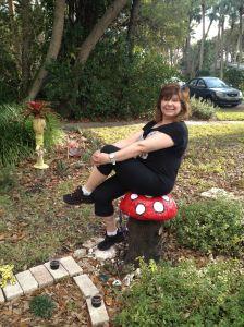 Toadstool Garden Seat