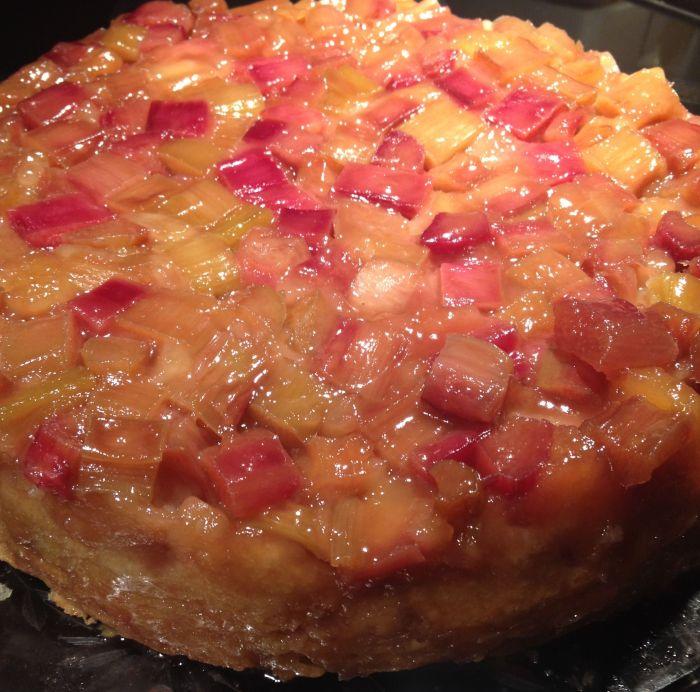 Rhubarb Uside Down Cake