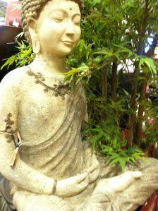 meditative yoga statue