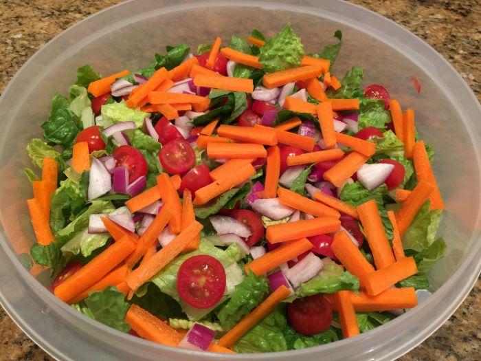 weekly salad prep